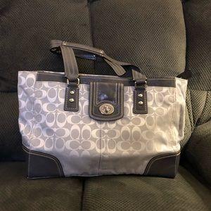 Coach grey east-west bag